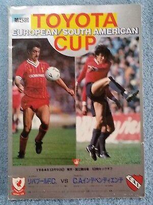 1984 - CLUB WORLD CUP FINAL PROGRAMME - INDEPENDIENTE v LIVERPOOL - ORIGINAL