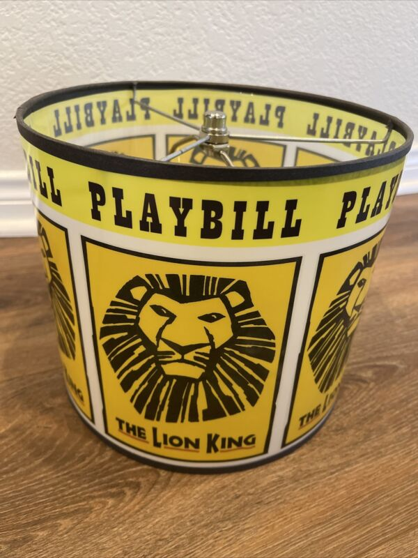 Disney Lion King Playbill Lampshade--EXTREMELY RARE