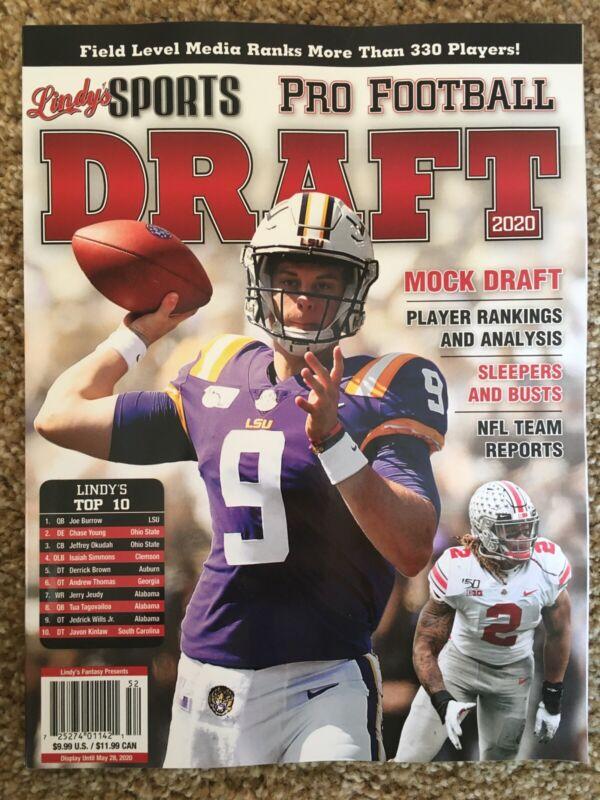 Lindys Sports Pro Football Draft 2020 Joe Burrow Magazine