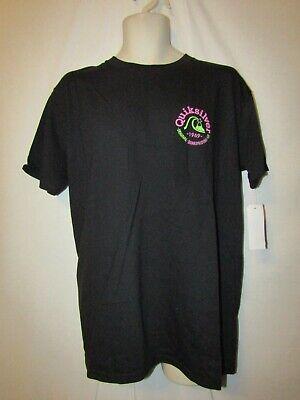 mens quiksilver surfer t-shirt L nwt reverse black