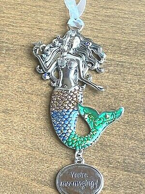 "Ganz Mermaid Car Charm Ornament ""You're Mermazing!"" Sea Life Ocean"