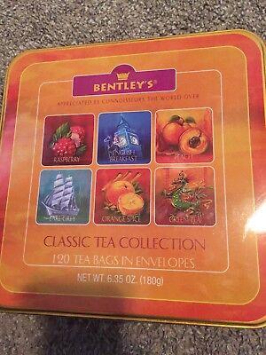 - Bentley's Classic Tea Collection 120 Tea Bags Raspberry Orange Spice In Tin Box