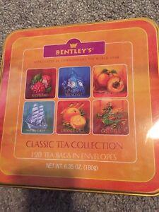 Bentley's Classic Tea Collection 120 Tea Bags Raspberry Orange Spice In Tin Box