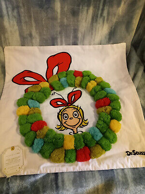 Pottery Barn Grinch Cindy Lou Who Pillow Cover NWT