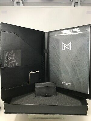 Nero Manetti-leather Portfolio Folder-business Leather Portfolio Cardholderd-1