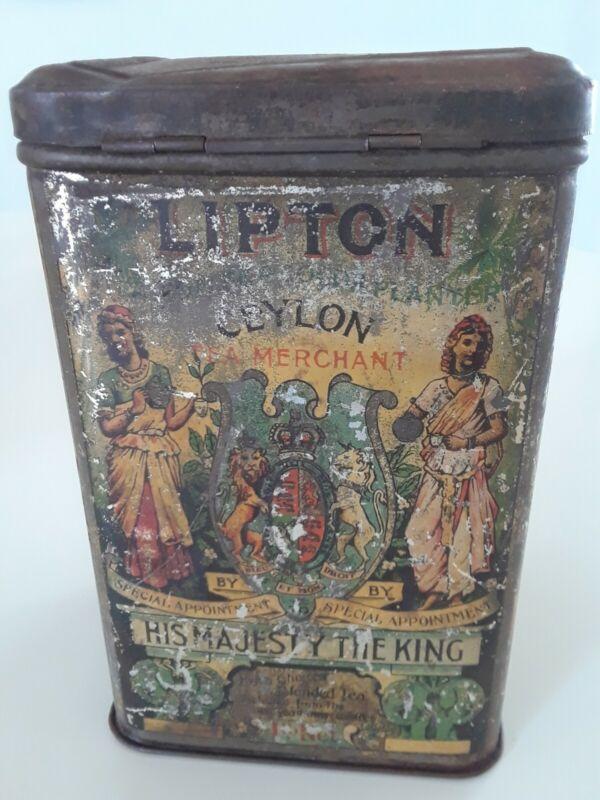 Antique 1903 Lipton Tea/Coffee Tin  Lewis and Clark