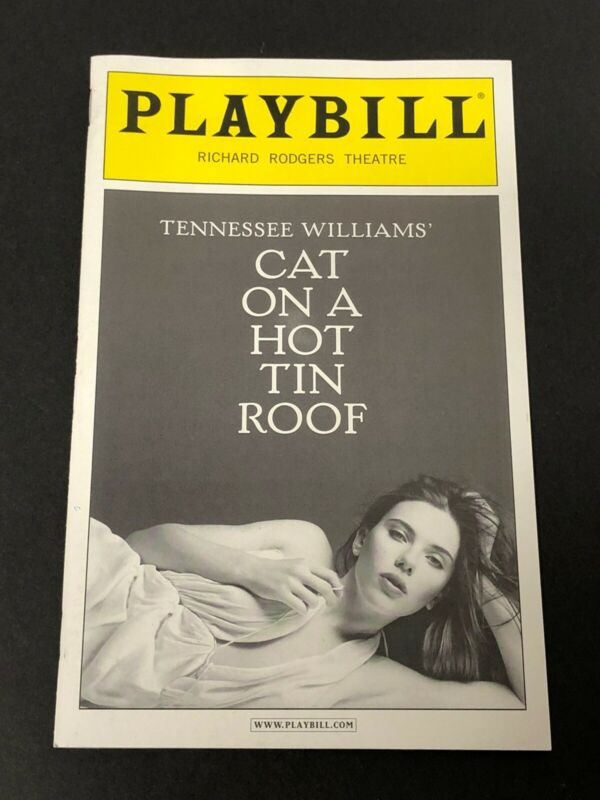 Scarlett Johansson Rare Cat On A Hot Tin Roof Original Broadway Playbill Program