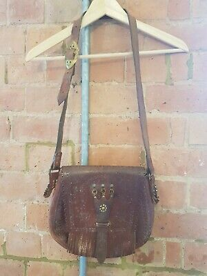 Gorgeous Vintage Boho Shoulder Leather Satchel Bag