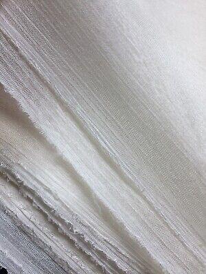 100% PURE SILK white fabric wedding, sewing, craft  100% Silk Fabric