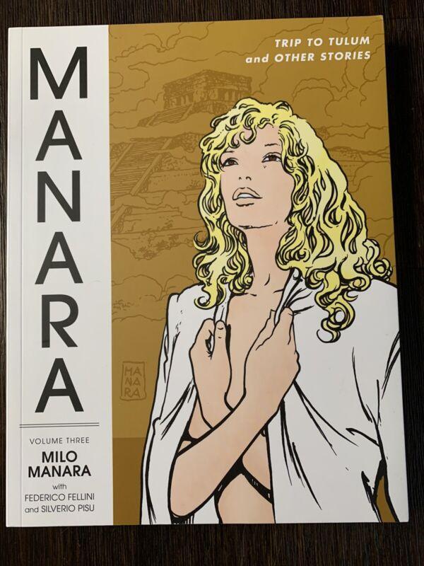 Milo Manara volume 3 Trip to Tulum Dark Horse Graphic Novel comic rare Fellini