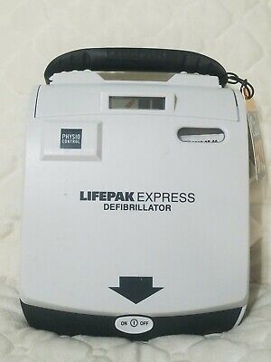 Physio-control Lifepak Express Defibrillator W Pads And Battery Must See