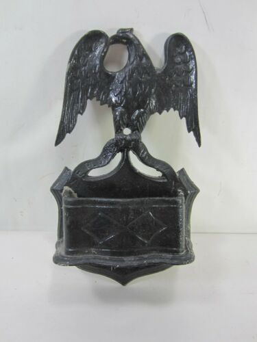 Vintage Cast Aluminum Patriotic Eagle Wall Pocket