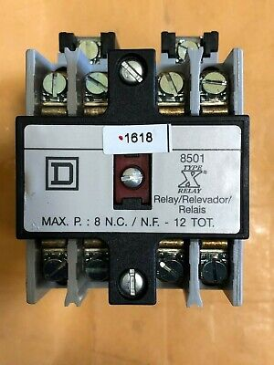Square D Power Relay 120vac Coil 4 N.o. 8501xo40v02 Contactor Duty