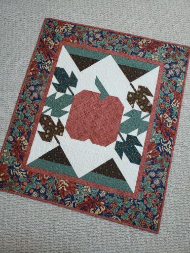 """Pumpkin Harvest"" Handmade Fall Quilt Autumn Colors100% Cotton,Machine Quilted"