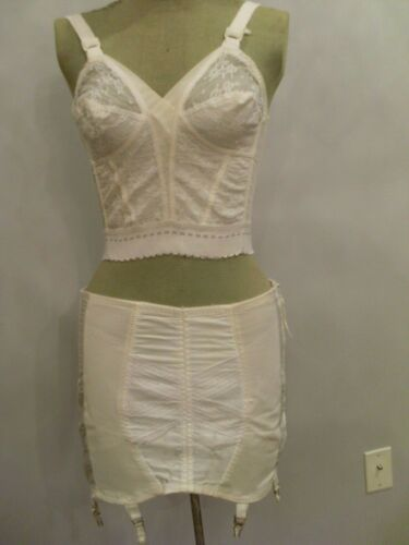 Vintage Fashion Open Bottom Girdle Garter Belt, Side Zip & Hook,