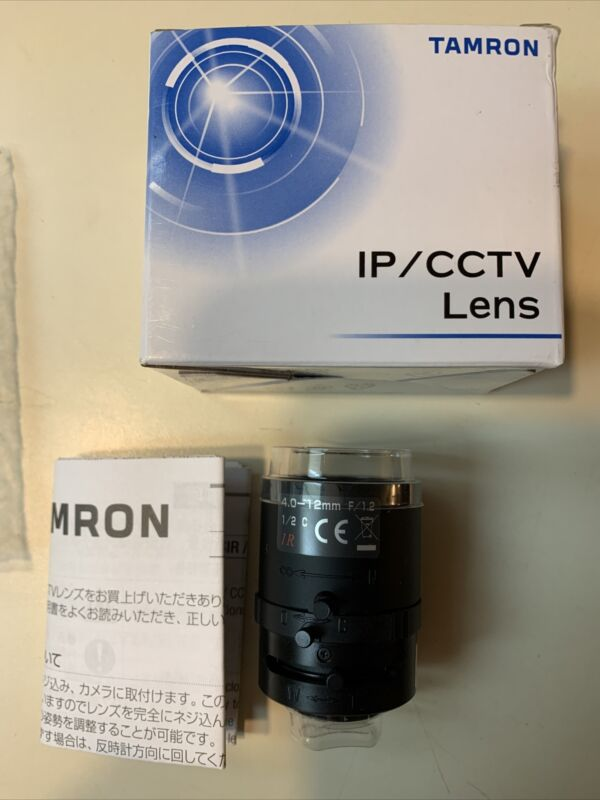 Tamron IR Aspherical Manual Iris Zoom Lens 12VM412ASIR