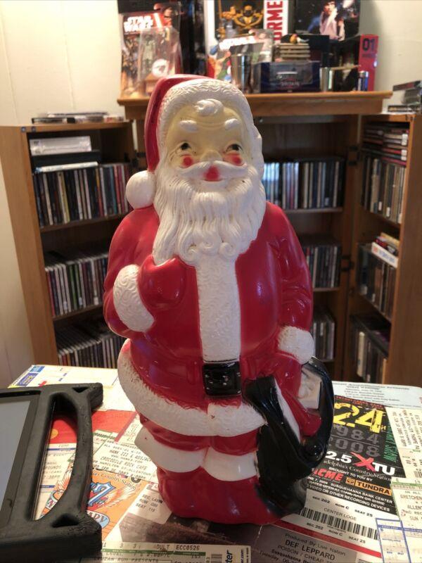 "Vintage Plastic Blow Mold Santa Claus 13"" 1968 Empire NO LIGHT Read Description"