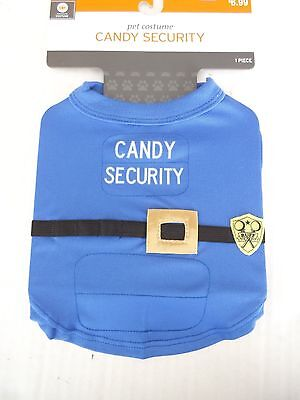 Police Dog Halloween Costume (NWT-Pet Dog Halloween Costume-Police-Candy Security T-Shirt-Sz. XS-up to 10)