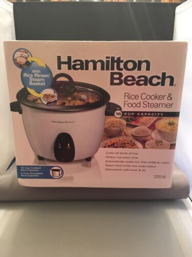 Hamilton Beach 37516 Rice Cooker & Food Steamer, White
