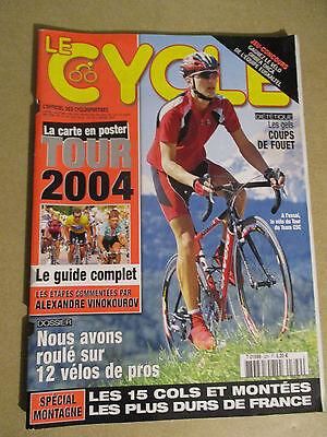 LE CYCLE N°329 : JUILLET 2004 : GUIDE DU TOUR DE FRANCE AVEC CARTE POSTER
