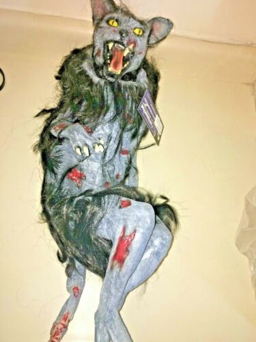 Halloween prop BLACK CAT HAND PUPPET. Latex. Super detail. Amazing. AS IS.