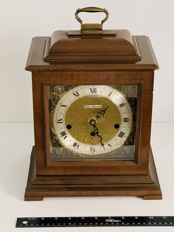 Working Vintage Seth Thomas Mantle Clock Dual Chime Battery Repaired Replacement