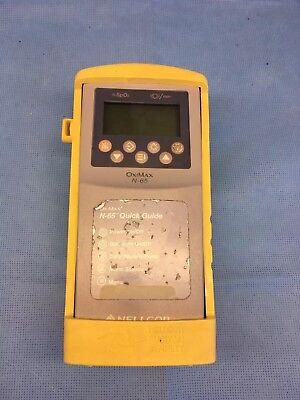 Nellcor Oximax N-65 Handheld Pulse Oximeter Spo2 Monitor W Rubber Hard Case