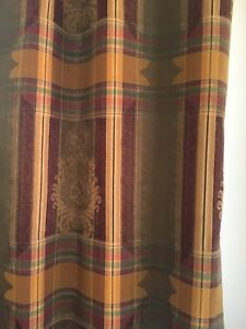2 Sets of Lined Tab Curtain Panels