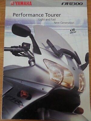 Yamaha FJR1300 Motorcycle Sales Brochure 2001