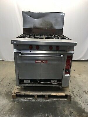 Vulcan Gh45 4 Burner Natural Gas Stove Range Stainless Steel
