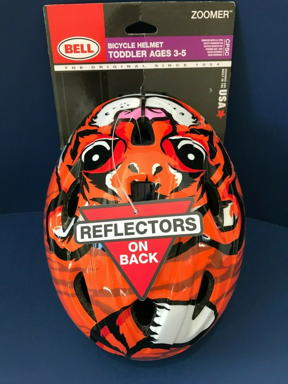 BELL ZOOMER Tiger Bicycle Helmet , Age 3-5, New