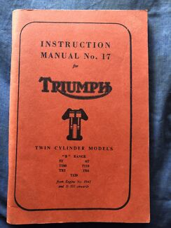 Triumph Instruction manual number 17 for Twin Cylinder models Comboyne Port Macquarie City Preview