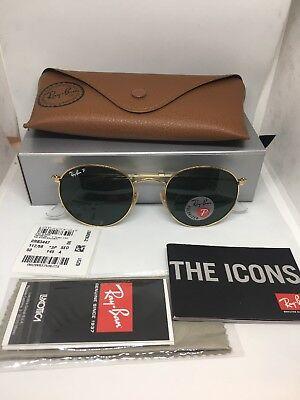 Ray Ban RB3447 112/58 Matte Gold / Polar Green Polarized 50mm Sunglasses