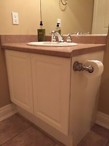 Bathroom vanity, sink, countertop AND faucet -