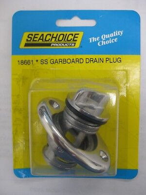 Screw Type Stainless Steel Drain Plug for Boats - Fits 1-1/4 Inch Diameter (1 1 4 Inch Boat Drain Plug)