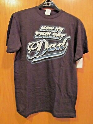 WORLD'S COOLEST DAD~Short Sleeve tee~Men's Size Small (34-36)~NEW w/tags Dad Short Sleeve Tee