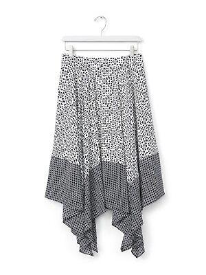 Banana Republic Geometric Printed Asymmetrical Handkerchief Hem Circle Skirt 4 ()
