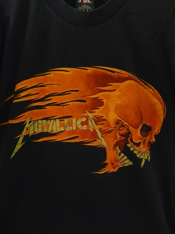 1994 Vintage Metallica Flaming Skull/Sun T Shirt Large Pushead Giant Original Ex