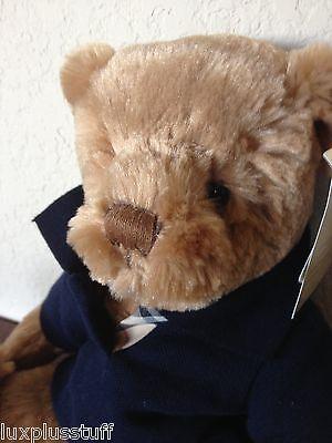 (❤️NEW 2010 BURBERRY Fragrance Teddy Bear With Nova Check Navy T Shirt )