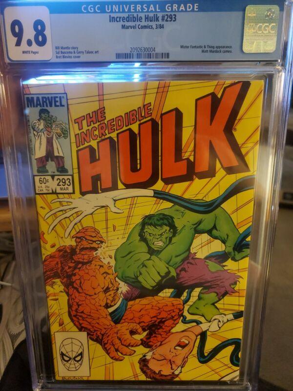 Hulk #293 CGC 9.8 ** HULK VS THING **