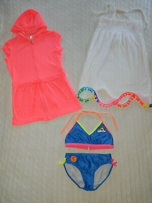 JUSTICE/CAT & JACK/Xhilaration ― Girls L 10/12 ― Swimsuit/Cover-up/Pom-Pom Dress