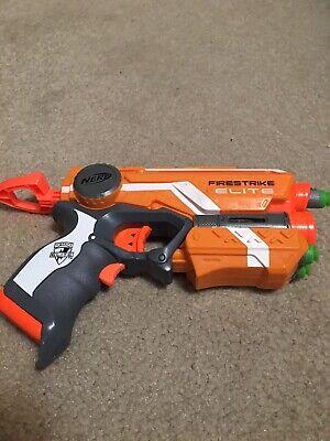 Firestrike Nerf Gun Hasbro NStrike Elite Blaster Red Dot with Darts Batteries