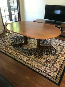 Solid Jarrah Dining Table with 6 Matching Chairs