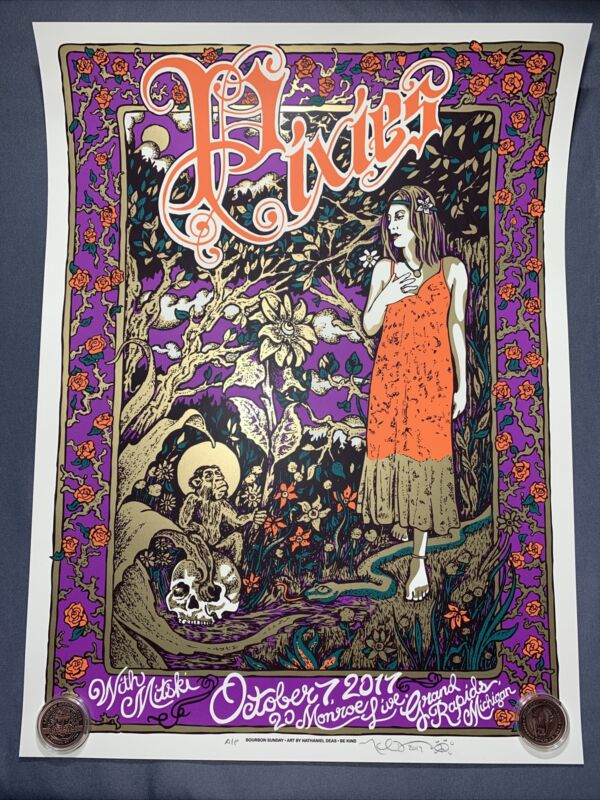 Pixies - Grand Rapids, MI 10/7/2017 - Poster by Nate Deas - AP Print Signed