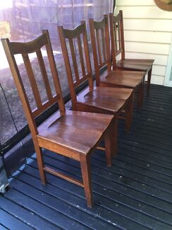 Chairs x 4 vintage timber Ringwood East Maroondah Area Preview