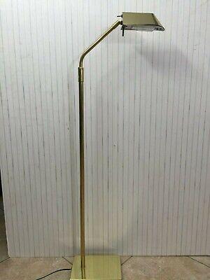 George Kovacs Pharmacy Floor Lamp (Robert Sonneman George Kovacs Brass Adjustable Pharmacy Floor Lamp, 44