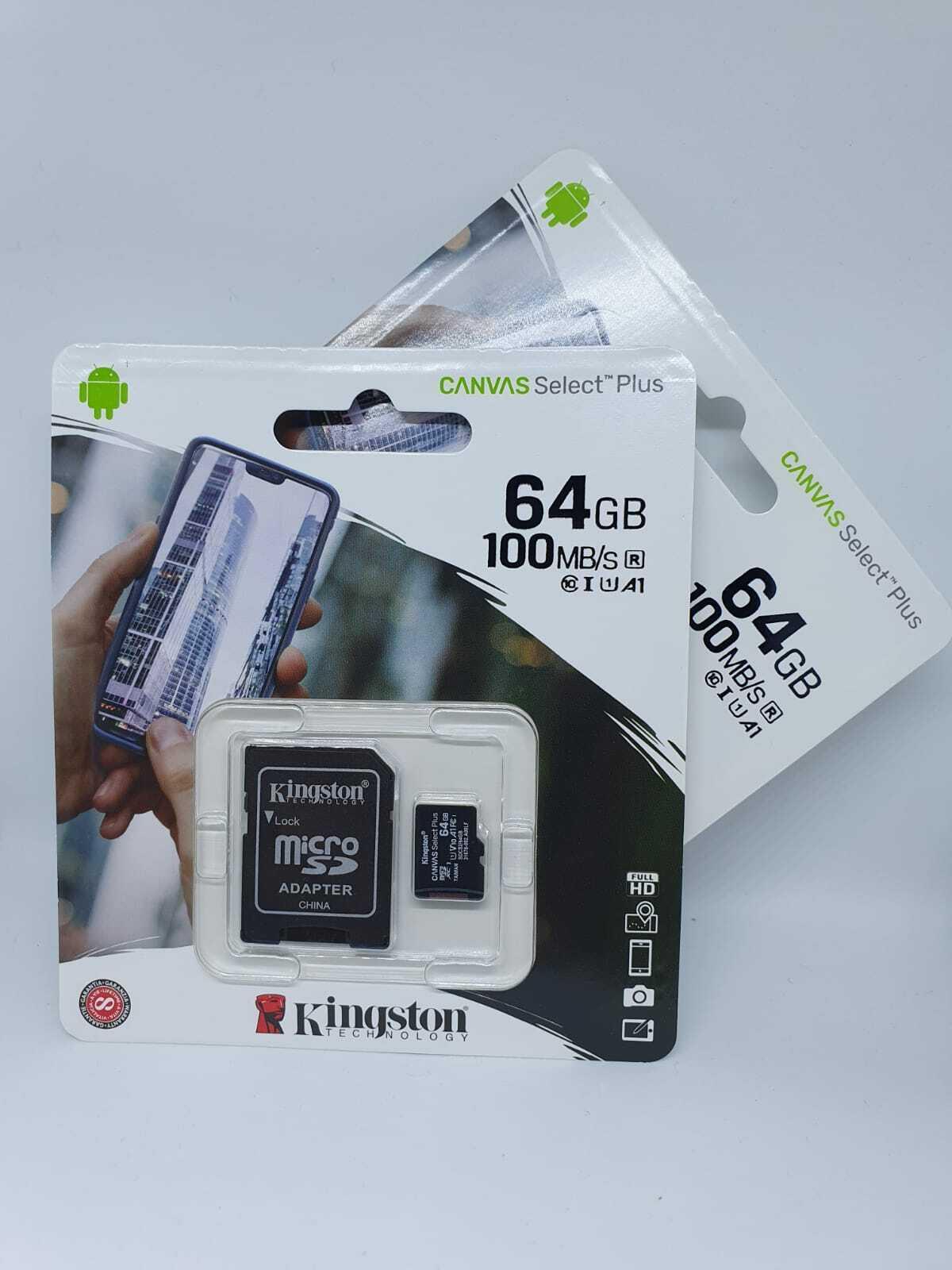 Kingston Micro SD Speicherkarte SDHC SDXC A1 100MBs 16GB 32GB 64GB 128GB Adapter