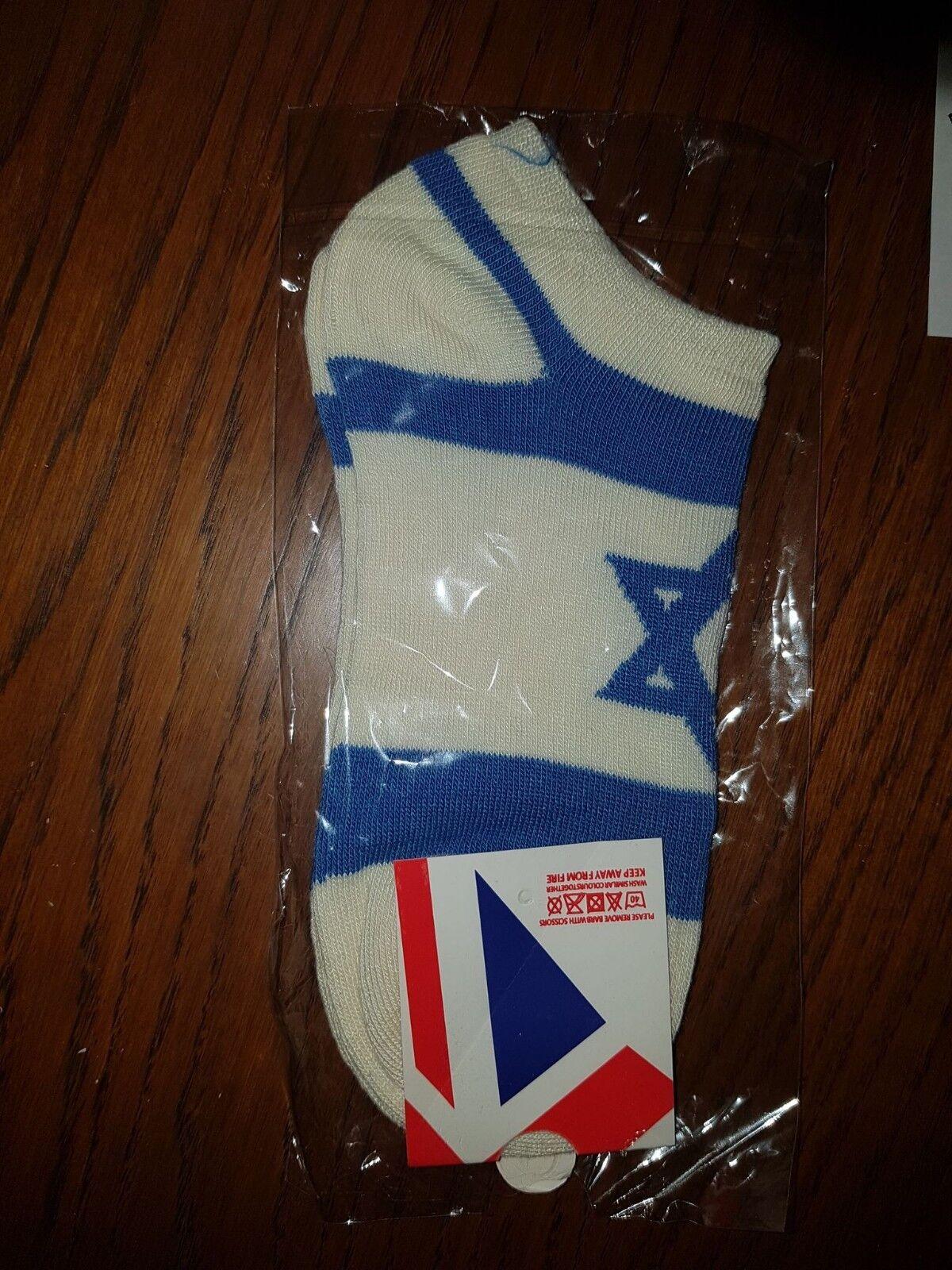 une paire de chaussettes elegantes en motif de drapeau d'israel pour les ho c6m3