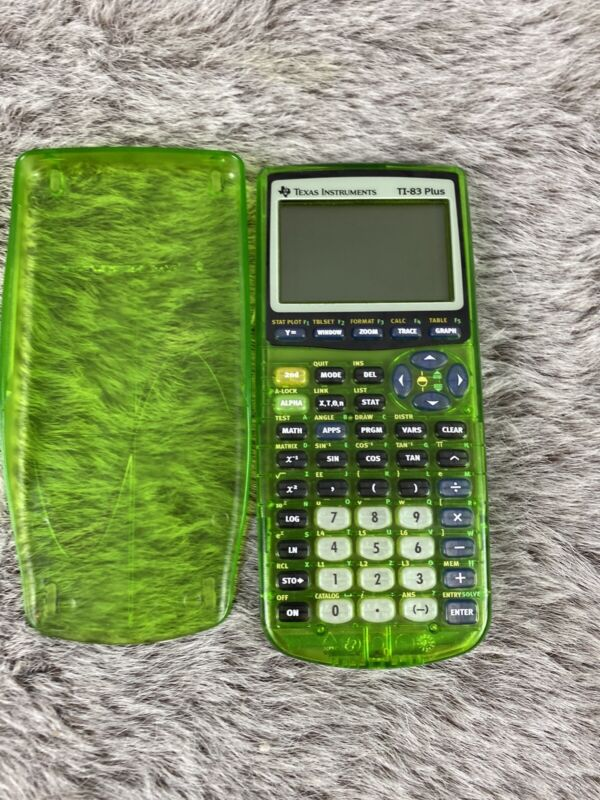 TI-83 + Plus Texas Instrument Green Scientific Graphing Calculator Tested Works!