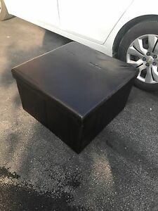 Leather foot rest storage area (brand new)